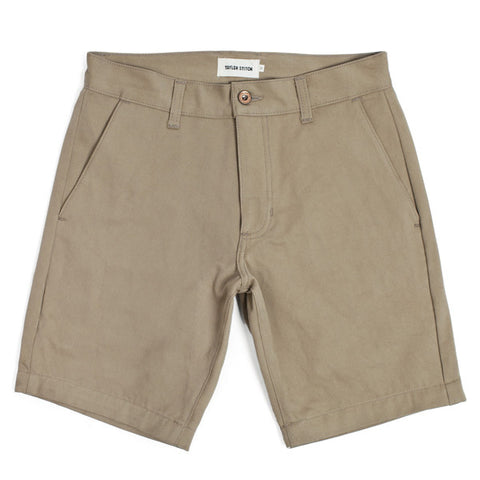 Traveler Shorts in Khaki Twill - featured image