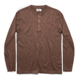 The Heavy Bag Henley in Fatigue Brown - featured image