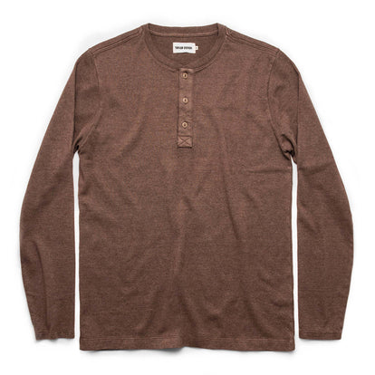 The Heavy Bag Henley in Fatigue Brown: Featured Image
