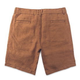 The Maritime Short in British Khaki Linen Herringbone: Alternate Image 6