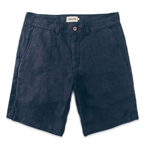 The Maritime Short in Navy Linen Herringbone - featured image