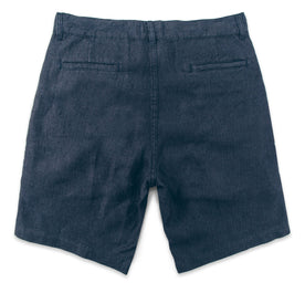 The Maritime Short in Navy Linen Herringbone: Alternate Image 5