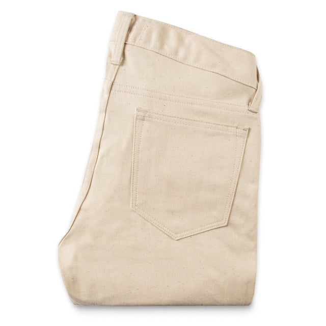The Adler Jean in Cone Mills Natural