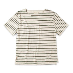 The Sausalito Tee in Forest Stripe Mercerized Merino: Featured Image