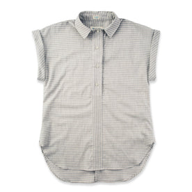 The Reese Popover in Grey Striped Chambray: Featured Image