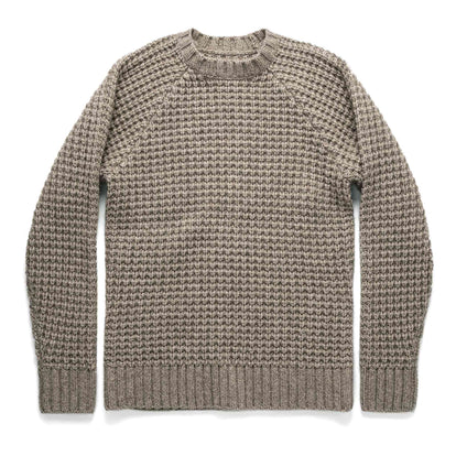 The Fisherman Sweater in Natural Waffle