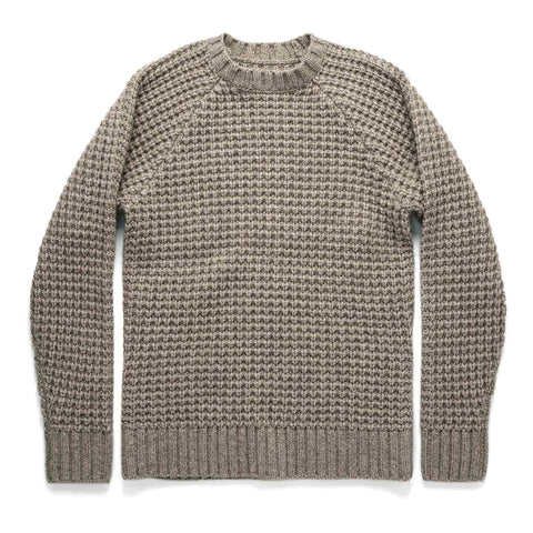 The Fisherman Sweater in Natural Waffle - featured image