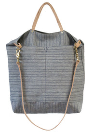 Ali Golden Reversible Tote - Green/Blue Stripe: Alternate Image 1