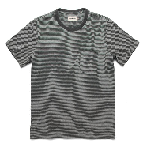 The Heavy Bag Tee in Grey Stripe - featured image