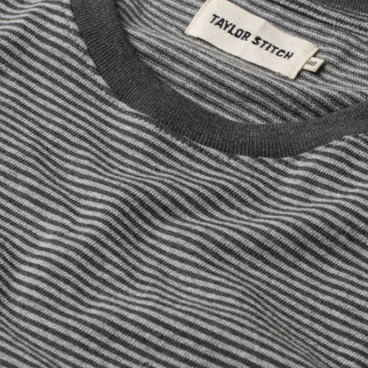The Heavy Bag Tee in Grey Stripe: Alternate Image 7