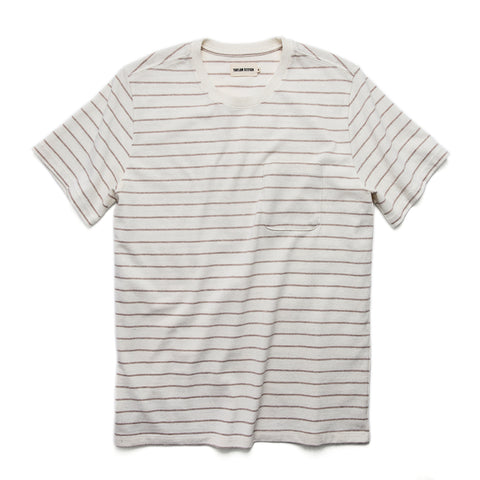 The Heavy Bag Tee in Natural Stripe - featured image