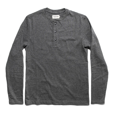 The Heavy Bag Henley in Heather Grey - featured image