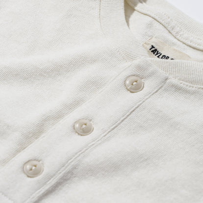 The Heavy Bag Henley in Natural: Alternate Image 4