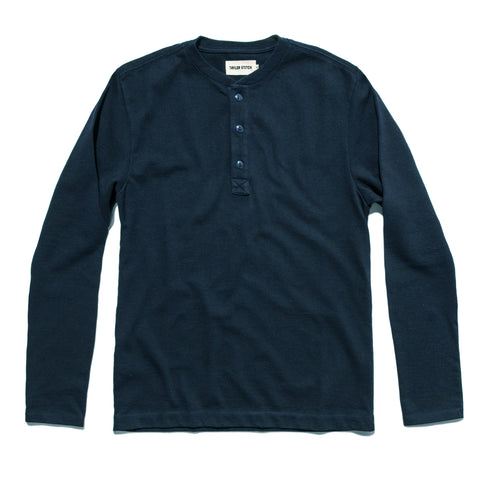 The Heavy Bag Henley in Navy - featured image