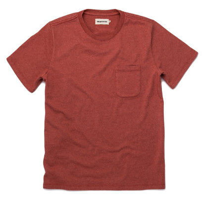 The Heavy Bag Tee in Washed Rust: Featured Image