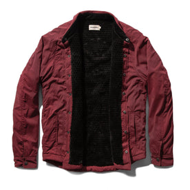 The Albion Jacket in Burgundy: Alternate Image 9