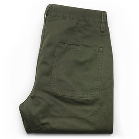 The Camp Pant in Olive Reverse Sateen: Alternate Image 9