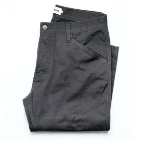 The Camp Pant in Charcoal Reverse Sateen: Featured Image