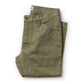 The Camp Pant in Olive Herringbone - featured image