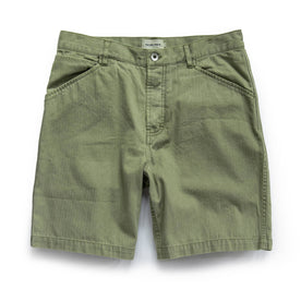 The Camp Short in Olive Herringbone - featured image