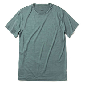 The Merino Tee in Sea Green: Featured Image