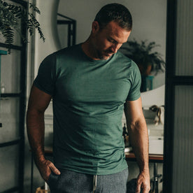 The Merino Tee in Sea Green: Alternate Image 1