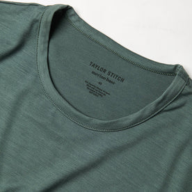 The Merino Tee in Sea Green: Alternate Image 4