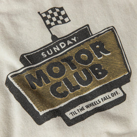 material shot of The Heavy Bag Tee in Motor Club, back