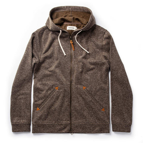 The Après Hoodie in Olive Hemp Donegal - featured image