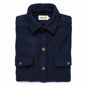 The Explorer Shirt in Navy Boiled Wool - featured image