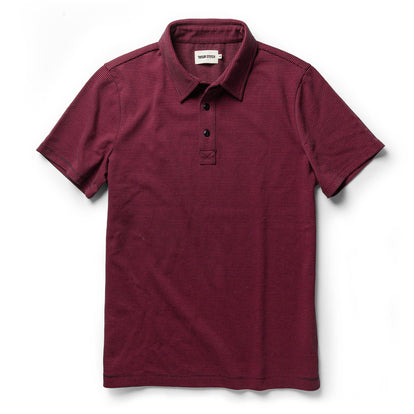 The Heavy Bag Polo in Red Stripe: Featured Image