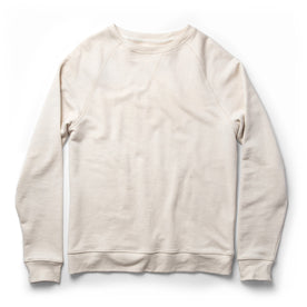 The Crewneck in Natural Donegal Terry - featured image