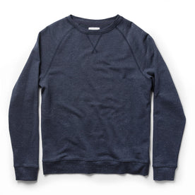 The Crewneck in Navy Donegal Terry - featured image