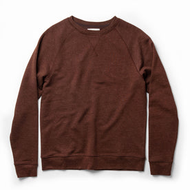 The Crewneck in Rust Donegal Terry - featured image