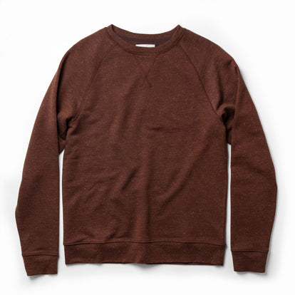 The Crewneck in Rust Donegal Terry: Featured Image