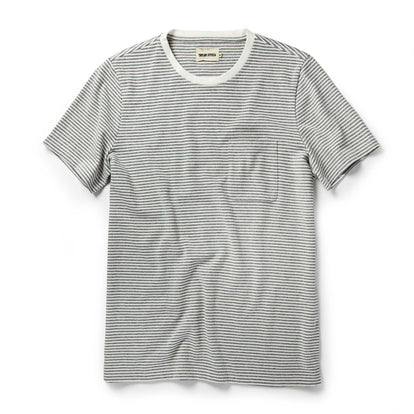 The Heavy Bag Tee in Ash Stripe: Featured Image