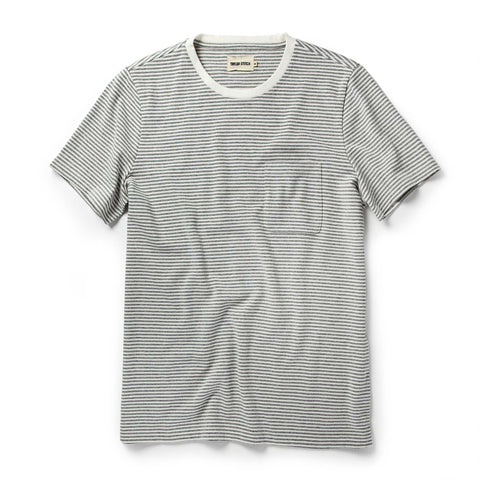 The Heavy Bag Tee in Ash Stripe - featured image