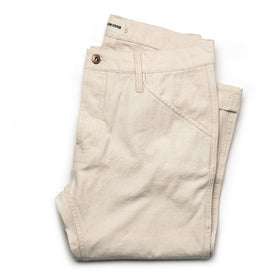 The Camp Pant in Natural Reverse Sateen - featured image