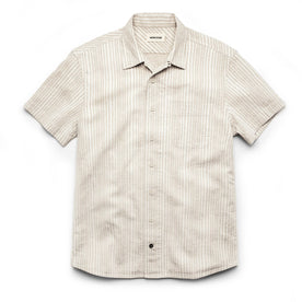 The Short Sleeve Hawthorne in Natural Stripe: Featured Image