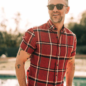 The Short Sleeve Jack in Crimson Plaid - featured image