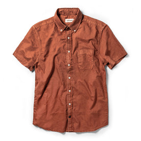 The Short Sleeve Jack in Terracotta Oxford - featured image