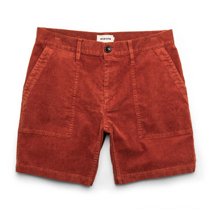 The Trail Short in Rust Cord: Featured Image