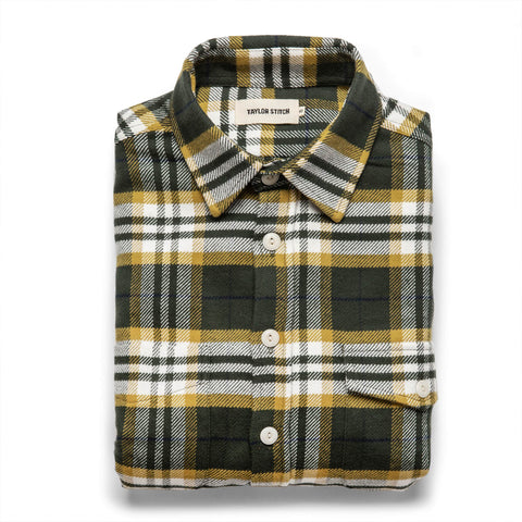 The Crater Shirt in Green Plaid - featured image