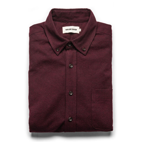 The Jack in Maroon Brushed Oxford - featured image