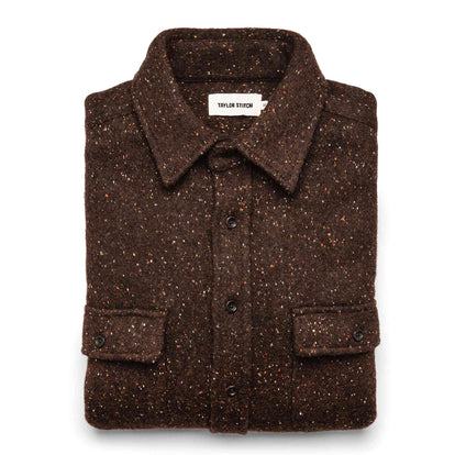 The Leeward Shirt in Chocolate Donegal