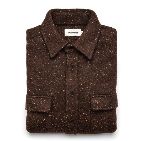 The Leeward Shirt in Chocolate Donegal - featured image