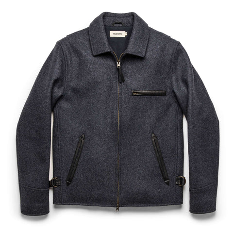 The Monterey Bomber in Navy Wool - featured image