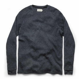 The Heavy Bag Waffle Long Sleeve in Navy: Featured Image