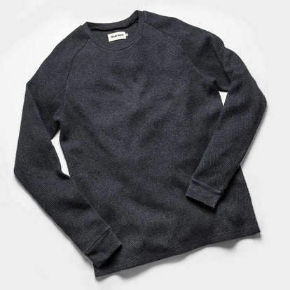The Heavy Bag Waffle Long Sleeve in Navy: Alternate Image 8