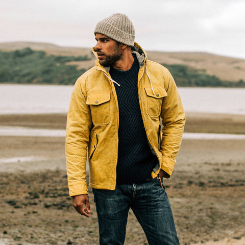 The Winslow Parka in Mustard Waxed Canvas - alternate view